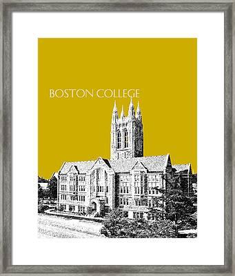 Boston College - Gold Framed Print