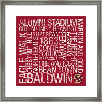 Boston College College Colors Subway Art Framed Print