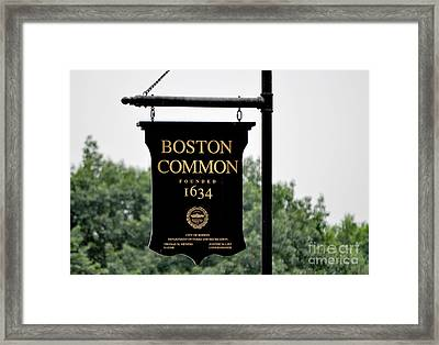 Boston Common Ma Framed Print