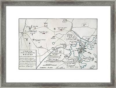 Boston-concord Map, 1775 Framed Print