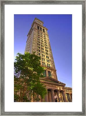 Boston Custom House 3 Framed Print by Joann Vitali