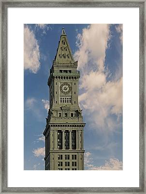 Boston Custom House Clock Tower Framed Print by Susan Candelario