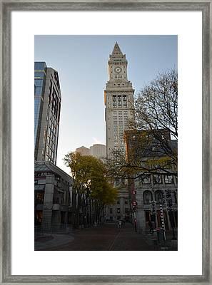 Boston Custom House Framed Print