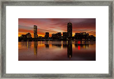 Boston Dawn Framed Print