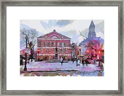 Boston Downtown 11 Framed Print by Yury Malkov