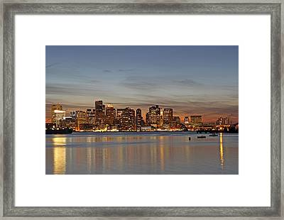 Boston Downtown Framed Print by Juergen Roth