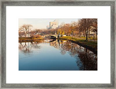 Boston Esplanade Framed Print by Lee Costa