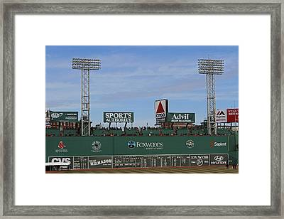 Boston Fenway Park Green Monster Framed Print by Juergen Roth