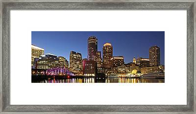 Boston Financial District Panoramic Photography Framed Print by Juergen Roth