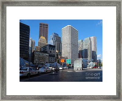 Boston Financial District Framed Print by Rosemarie Morelli