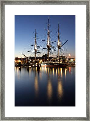 Boston Fireworks Framed Print