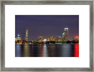 Boston From Memorial Drive Framed Print