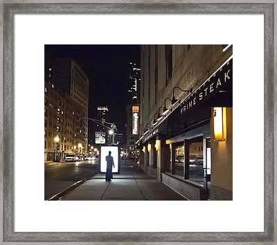 Boston Glow Framed Print