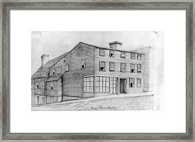 Boston Gray House Framed Print
