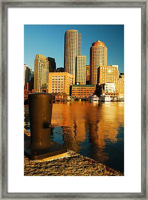 Boston Harbor Framed Print by James Kirkikis