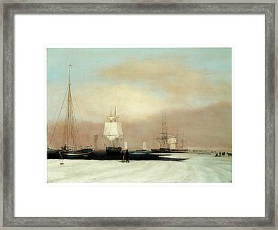 Boston Harbor Framed Print by John Blunt