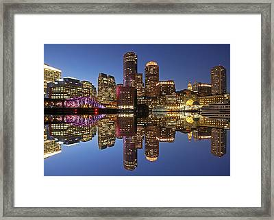 Boston Harbor Framed Print by Juergen Roth