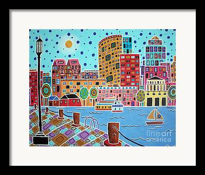 Boston Harbor Framed Prints