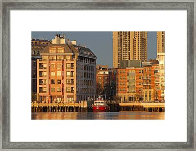 Boston Harbor Luxury Living Framed Print by Juergen Roth