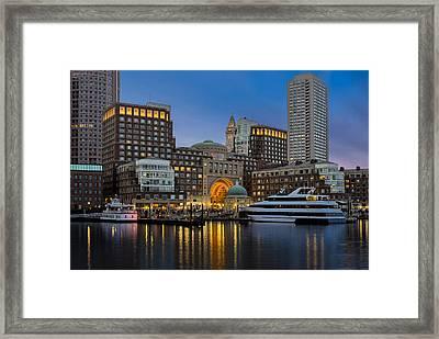 Boston Harbor Skyline Framed Print
