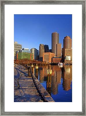 Boston Harbor Sunrise 2 Framed Print
