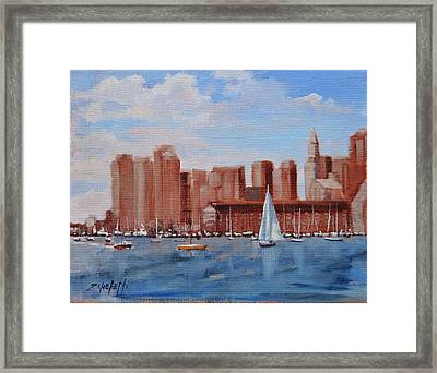 Boston Harbor View Framed Print