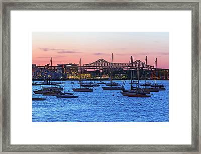 Boston Harbour Framed Print