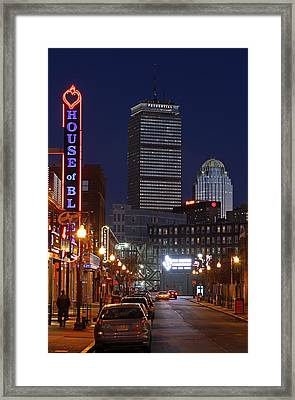 Boston House Of Blues Framed Print by Juergen Roth