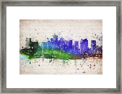 Boston In Color Framed Print by Aged Pixel