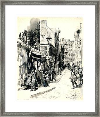 Boston Jewish Quarter 1899 Framed Print by Padre Art