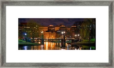 Boston Lagoon Bridge 2 Framed Print by Joann Vitali