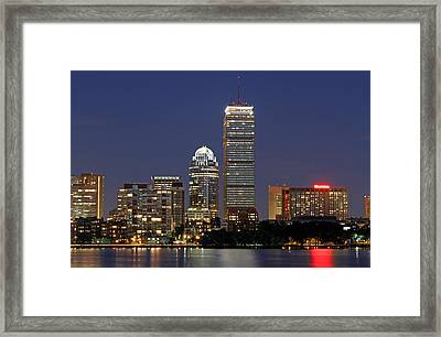 Boston Landmarks And Sheraton Hotel Framed Print by Juergen Roth