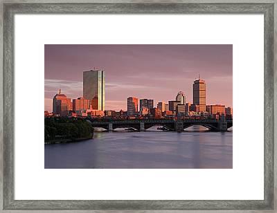 Boston Last Light Framed Print