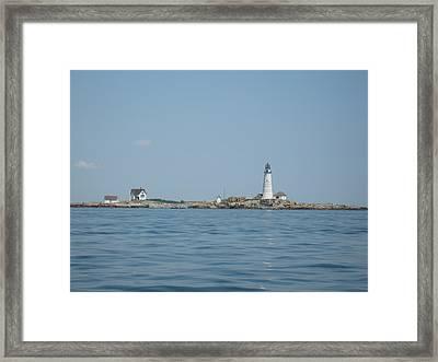 Boston Light Framed Print