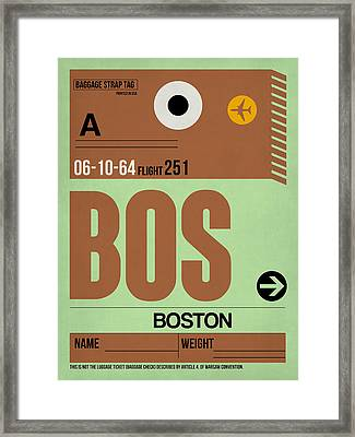 Boston Luggage Poster 1 Framed Print