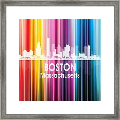 Boston Ma 2 Squared Framed Print by Angelina Vick