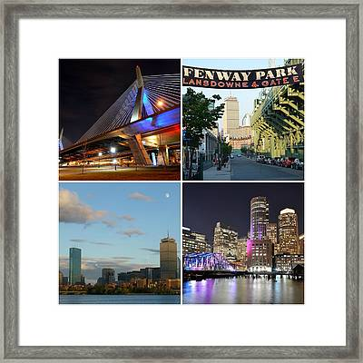 Boston Ma Collage Framed Print by Toby McGuire