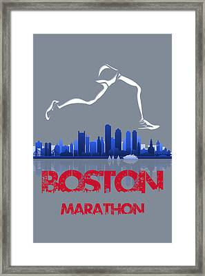Boston Marathon3 Framed Print by Joe Hamilton