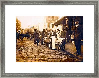 Boston Market Street Scene 1909 Framed Print by Unknown