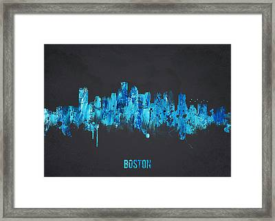 Boston Massachusetts Usa Framed Print by Aged Pixel