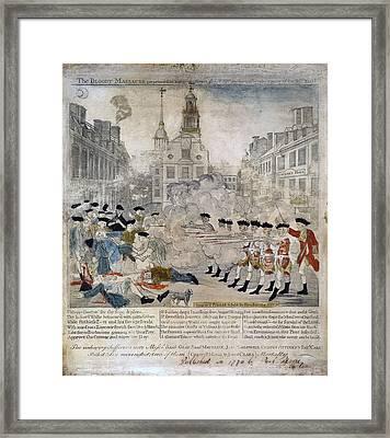 Boston Massacre Framed Print by Celestial Images