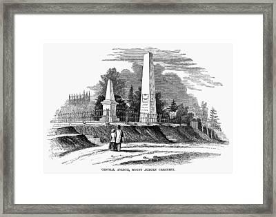 Boston Mount Auburn, 1854 Framed Print