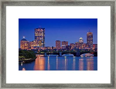 Boston Nights 2 Framed Print