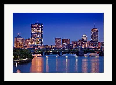 Boston Nights Framed Prints