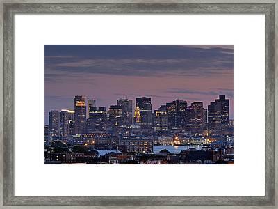 Boston Nights Framed Print by Juergen Roth