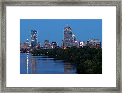 Boston Nightscape Framed Print by Juergen Roth