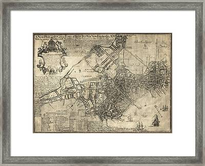 Boston Of British Dominion Map  1769 Framed Print