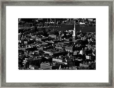 Boston Old North Church Black And White Framed Print