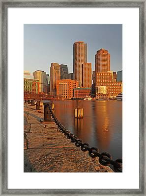 Boston One International Place  Framed Print