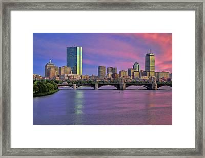 Boston Pastel Sunset Framed Print